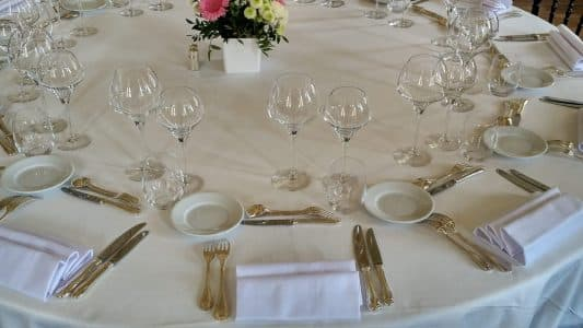 Art de la table Chic en Blanc mariages