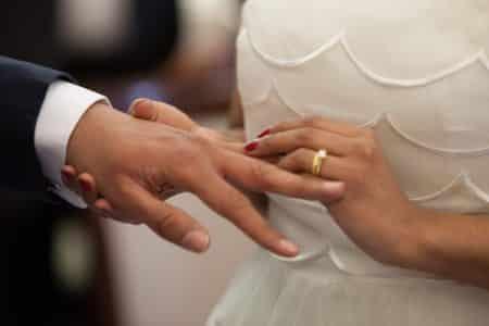 Engagement des mariés