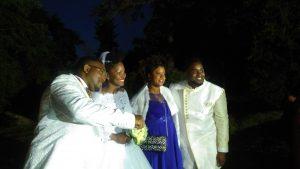La famille au mariage Gaëlla